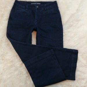 LANDS END Mid Rise Trouser Wide Leg Jeans Size 6
